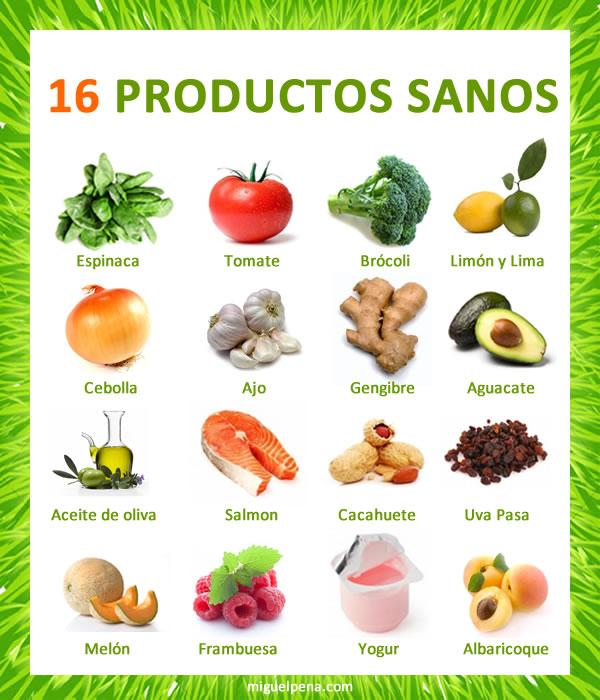 Comida: 16 productos sanos