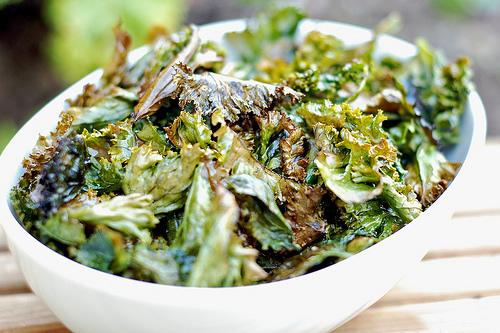 Chips de col rizada (Kale chips)