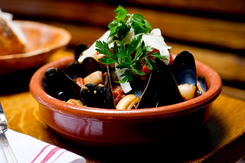 Mejillones a la marinera (Cocina Mediterránea)