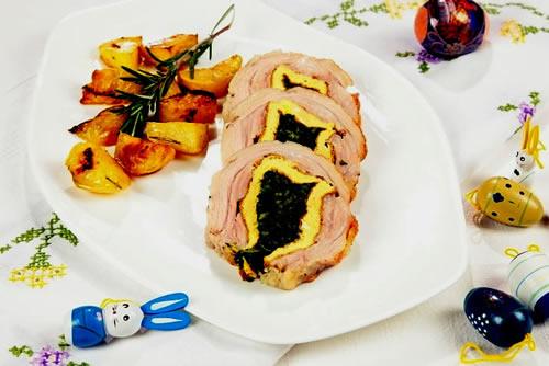 Rollo de ternera relleno (Cocina italiana)