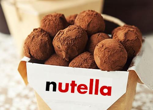 Trufas de Nutella